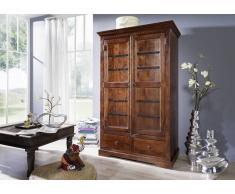 Kolonialmöbel Kleiderschrank Akazie massiv Möbel OXFORD #509