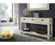 NATURE WHITE Konsolentisch #90 Akazie lackiert Möbel