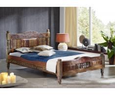 RAPUNZEL Bett #18 - 90x200cm Indisches Altholz lack.