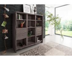 Bücherregal Akazie grau lackiert LIVE EDGE #410