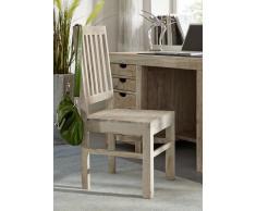 NATURE WHITE Stuhl #121 Akazie lackiert Möbel