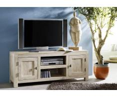 TV-Board Akazie 145x45x60 white stone getüncht NATURE WHITE #41