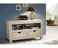 NATURE WHITE Lowboard #45 Akazie lackiert Möbel