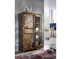 FREEZY Brotschrank #34, Eisen u. Altholz