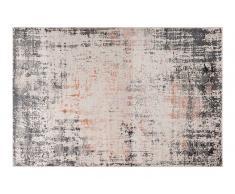 Teppich 150x80 grau/rot ORIGINS