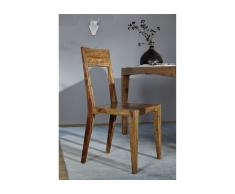 Stuhl Sheesham 46x49x90 braun lackiert ANCONA #105