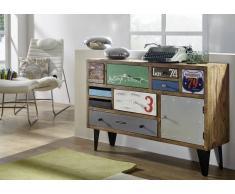 LIVERPOOL Sideboard #27, Eisen u. Sheesham