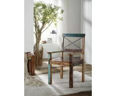 Stuhl Altholz 52x50x95 mehrfarbig lackiert NATURE OF SPIRIT #27
