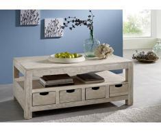NATURE WHITE Couchtisch #33 Akazie lackiert Möbel