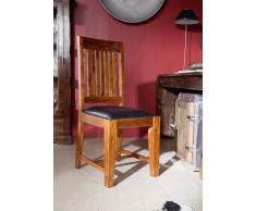 OXFORD Stuhl #015 m. Polster schwarz Akazie honig massiv