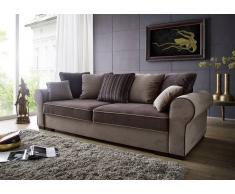 Sofa DELUXE COMFORT mit Schlaffunktion u. Bettkasten braun