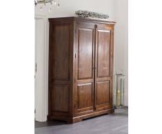 Kolonial Kleiderschrank massiv Akazie Möbel OXFORD #436