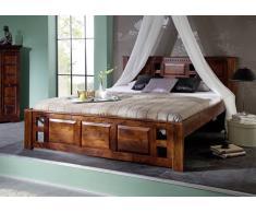 Koloniales Bett 200x200 Akazie massiv Holz CLASSIC OXFORD #254