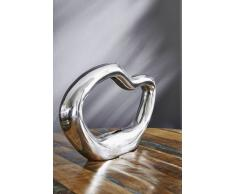 Vase Aluminium 10x40x20 silber SPECIAL DEKO #85