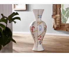 Vase Terrakotta 30x30x80 weiß DEKO #022