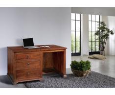Kolonial Schreibtisch massiv Akazie Holz OXFORD #512
