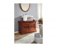Waschbeckenunterschrank Akazie 88x43x60 nougat lackiert OXFORD #1005