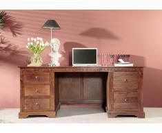 Kolonialer Schreibtisch massiv Akazie Möbel OXFORD #529