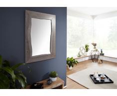 Spiegel Akazie 100x3x70 grau lackiert LIVE EDGE #913