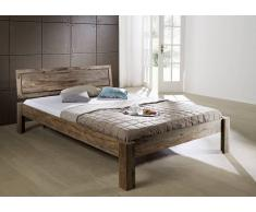 Sheesham Möbel Bett 140x200 Palisander Massivholz NATURE GREY #190