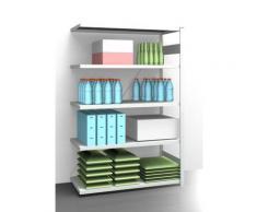 EUROKRAFT AntiBak®-Steckregal, antibakteriell - Regalhöhe 2000 mm, Anbauregal