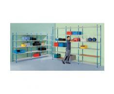 Steckregal - mit Stahlblech-Fachböden - HxBxT 2500 x