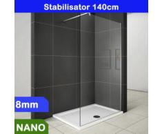 Walk in Duschabtrennung Duschwand 8mm NANO Glas 160x200cm