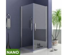90x90X195cm Duschkabine Schwingtür Duschabtrennung NANO Glas