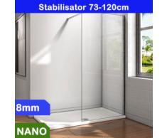 Walk in Duschkabine Duschabtrennung 100x200cm 8mm NANO Glas