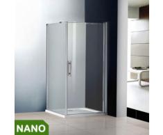 80x80x185cm Duschkabine Schwingtür Duschabtrennung NANO Glas