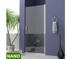 90x185cm Duschabtrennung NANO Glas+ Duschtasse 100x90x4cm
