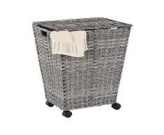 bad wäschebehälter mit rollen home affaire grau