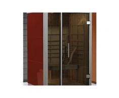weka set: infrarotkabine »aktivit rosso gr.1«, 115x108x206 cm, rubinrot, inkl. aufbau