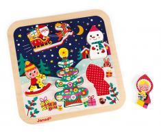 Janod® Chunky Holzfiguren-Puzzle Weihnachten aus Holz