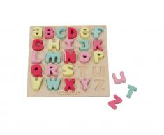 Holz-Puzzle Alphabet Pink, Little Dutch