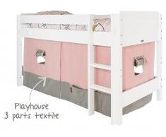 Bopita Spielhaus Vorhang für Halbhochbett Morning Grey / Soft Rose
