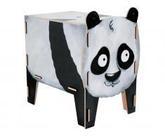 Spielzeugtruhe Panda Sitztruhe, Werkhaus Vierbeiner Hocker