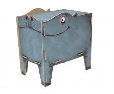 Spielzeugtruhe Hippo Sitztruhe, Werkhaus Vierbeiner, Hocker