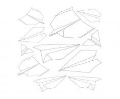 Sebra® Wandsticker Papierflieger, 11teilig