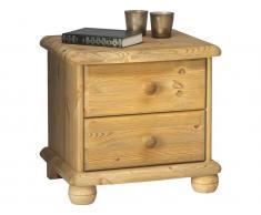 Steens Nachttisch auf Kugelfüßen mit 2 Schubladen Höhe 45cm