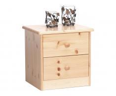 Steens Nachttisch mit 2 kleinen Schubladen Höhe 41cm