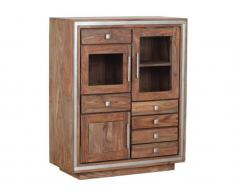 TheWoodTimes Highboard Sheesham Holz Sheva