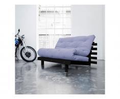 Futon Sofa Karup ROOTS Gestell Schwarz In neuen Pastell Farben erhältlich, Blue Breeze (L51)