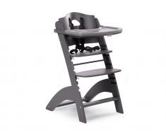 Treppenhochstuhl mit Gurt, Bügel und Tisch, Lambda 2, Buche Antrazit, Childhome