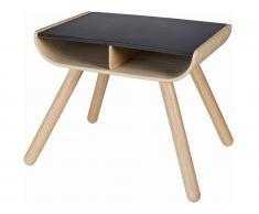PlanHome Kindertisch mit Ablagefächern Natur/Schwarz, Höhe 52cm