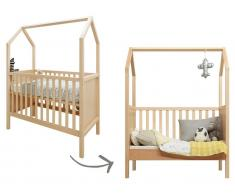 Bopita Babybett MY FIRST HOUSE Natur, 60x120cm