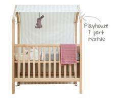 Bopita Spielzelt für Babybett My First House, Natur / Weiß