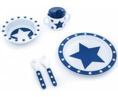 Pimpalou Melamin Geschirr-Set STARS Marine, 5-teilig