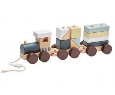 Kids Concept Holzeisenbahn mit Holzklötzen Edvin