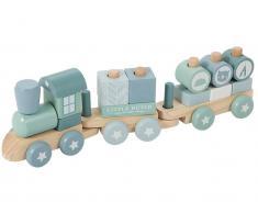 Little Dutch Holzeisenbahn mit Steckformen, Adventure Blue